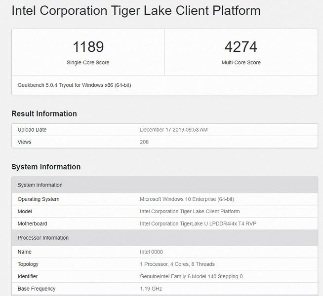 Intel наконец-то повторит успех AMD. Процессоры Tiger Lake получат существенный прирост показателя IPC