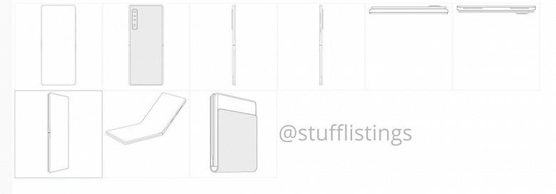 Следующий гибкий смартфон Huawei напоминает Moto RAZR 2019