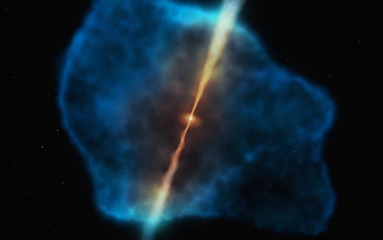 Обнаружен источник «питания» для чёрных дыр в эпоху «космического рассвета»