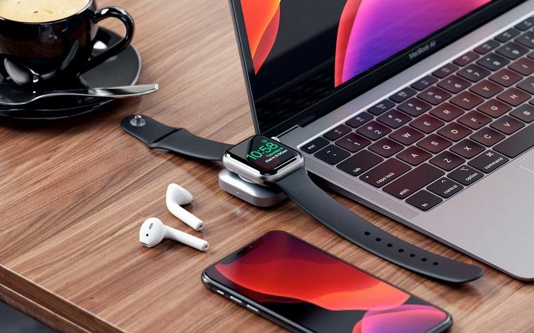 Устройство Satechi USB-C Magnetic Charging Dock позволяет заряжать часы Apple Watch от порта USB-C