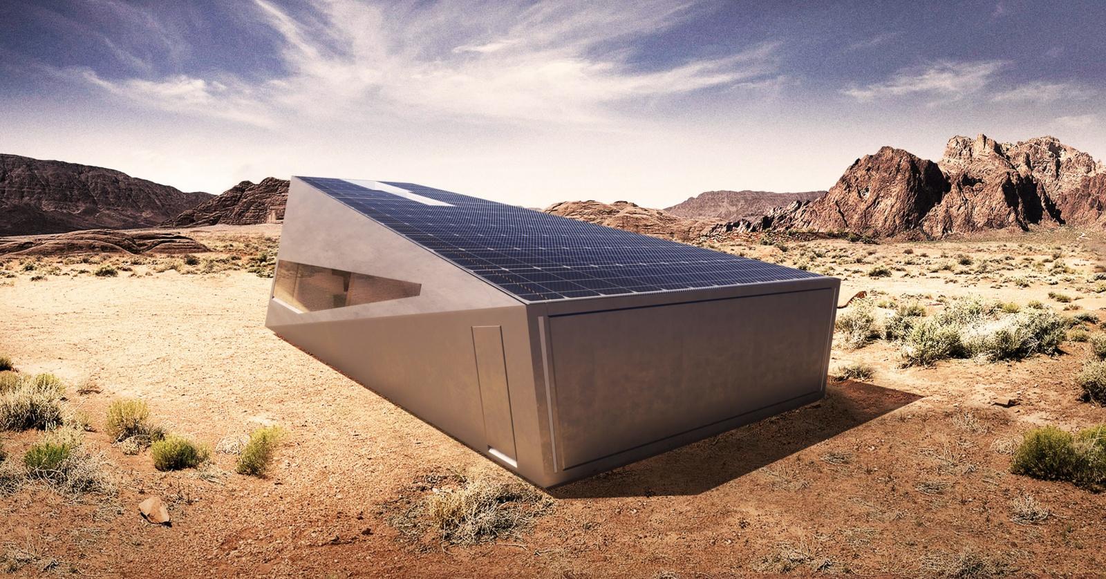 Посмотрите на специальный гараж для Tesla Cybertruck