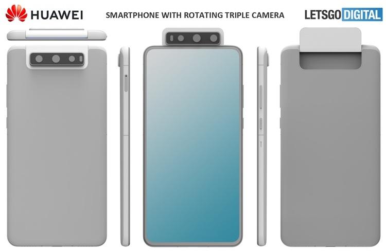 У Huawei может появиться смартфон с поворотной тройной камерой