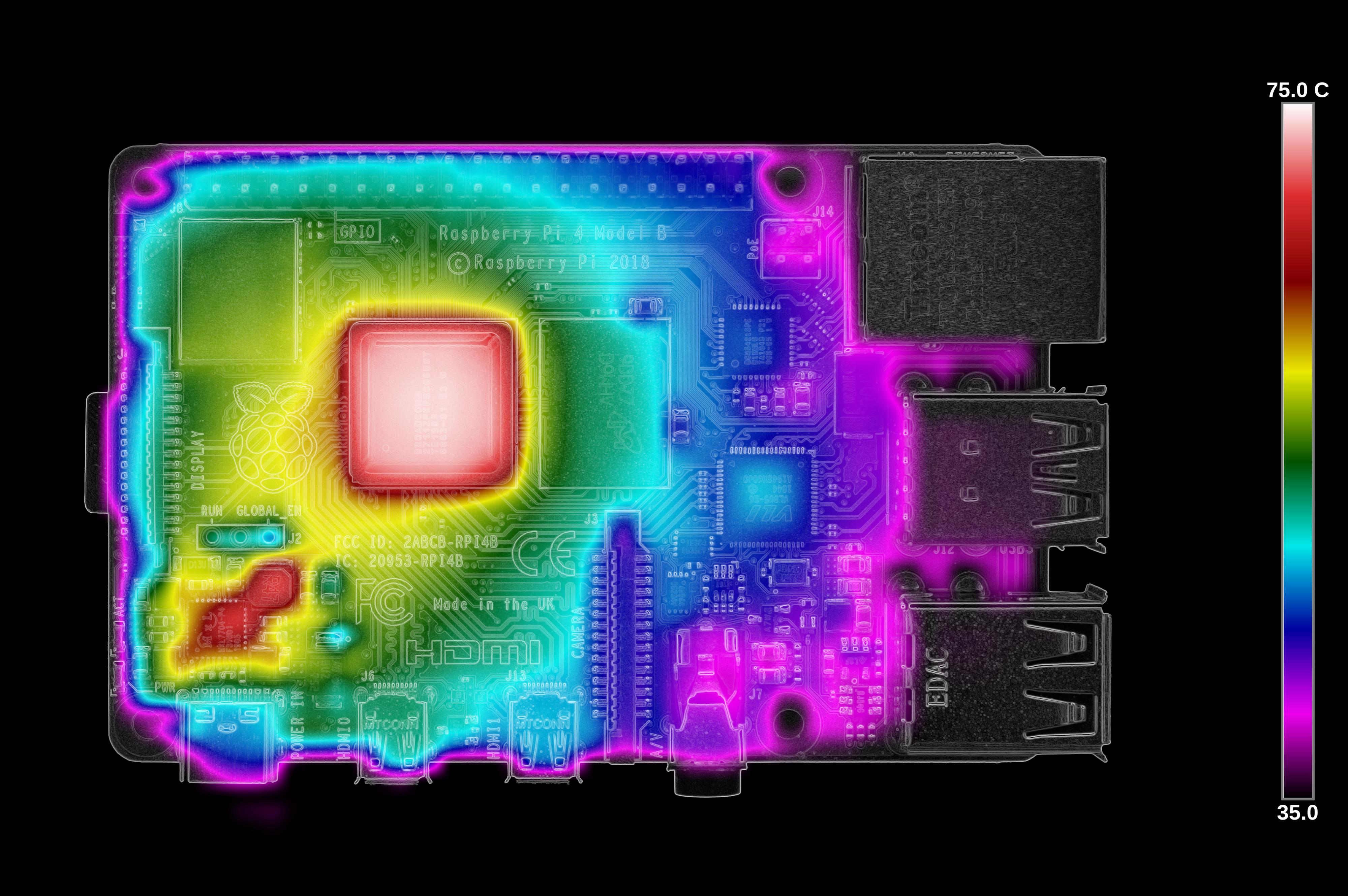 Тестирование Raspberry Pi 4 на нагрев - 15