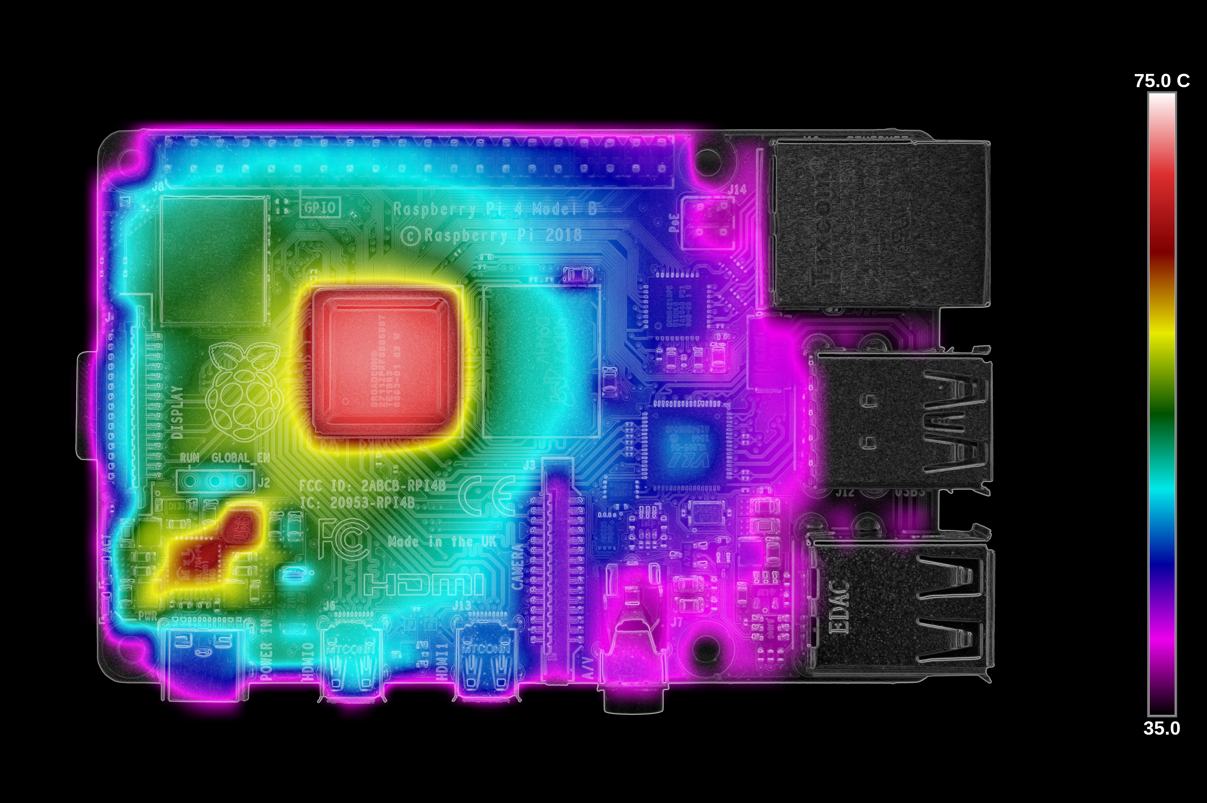 Тестирование Raspberry Pi 4 на нагрев - 20