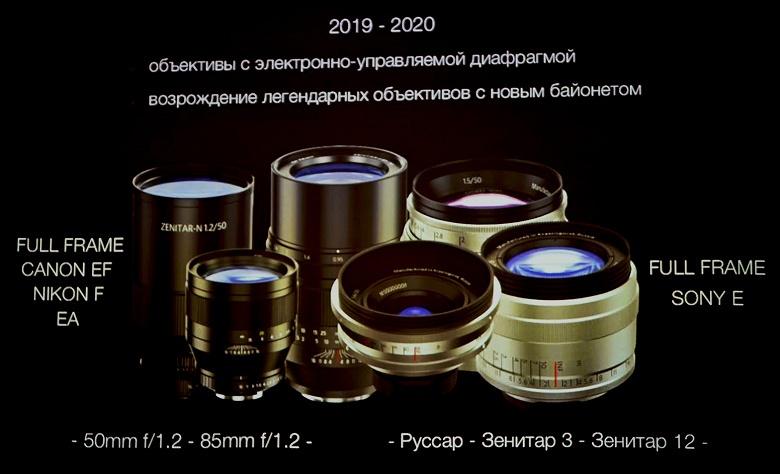 Zenit планирует в 2020 году выпустить как минимум три модели объективов с креплением Nikon F