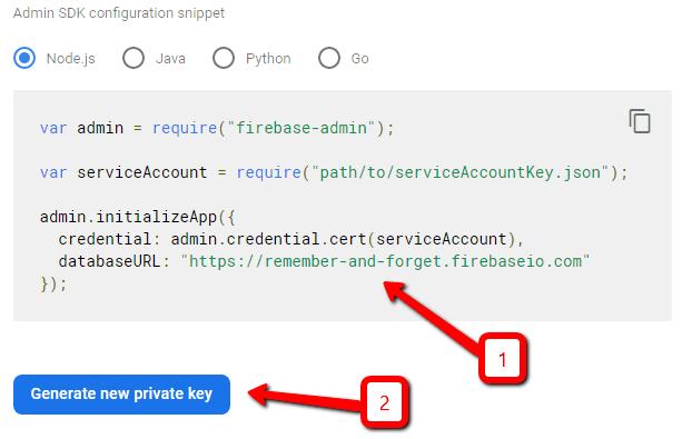 Создание приватного ключа