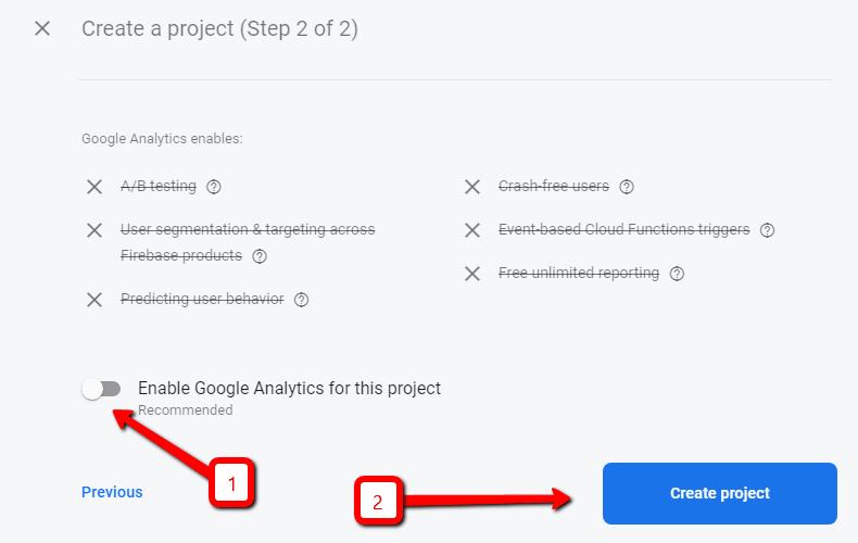 Отключение Google Analytics
