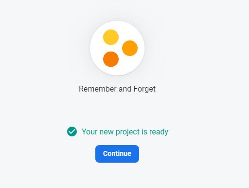 Firebase проект создан