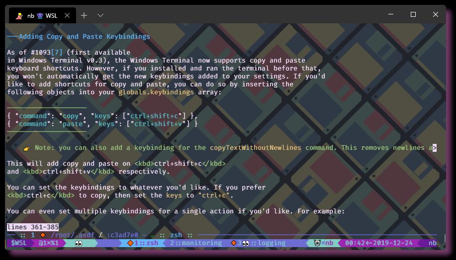 Настройка окружения в CLI. WSL - Windows Terminal - 15