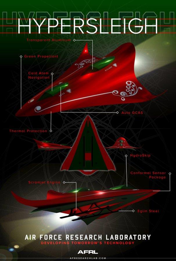 ВВС США сделали для Санта Клауса гиперзвуковые сани