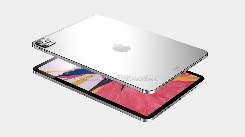 C камерой, как у iPhone 11 Pro. iPad Pro 2020 позируют на рендерах, максимально приближенных к реальности
