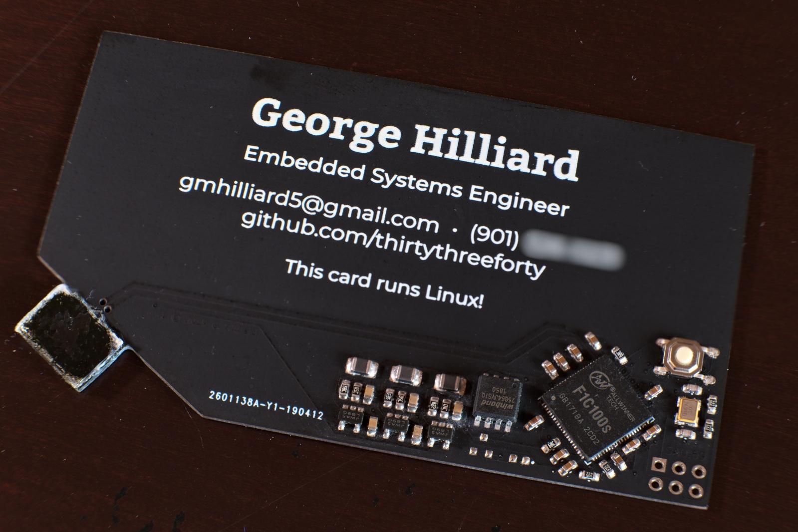 На моей визитке работает Linux - 3