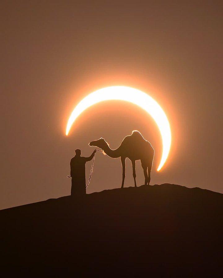 Огненное кольцо: завораживающие фотографии зимнего затмения