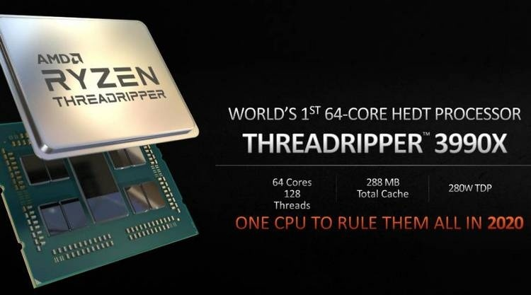 AMD готовит 48-ядерный Ryzen Threadripper 3980X для тех, кому 32 ядра мало, а 64 много