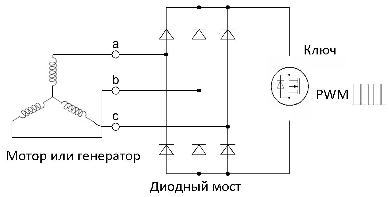 Мотор в качестве электромагнитного тормоза - 2