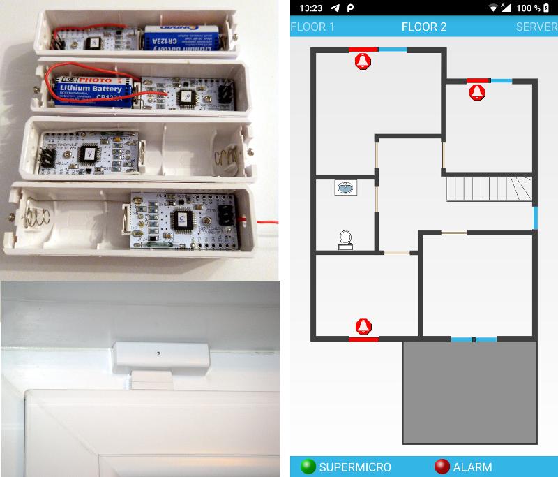 Самодельные беспроводные оконные датчики: STM32L051 + RFM69 + Android - 1