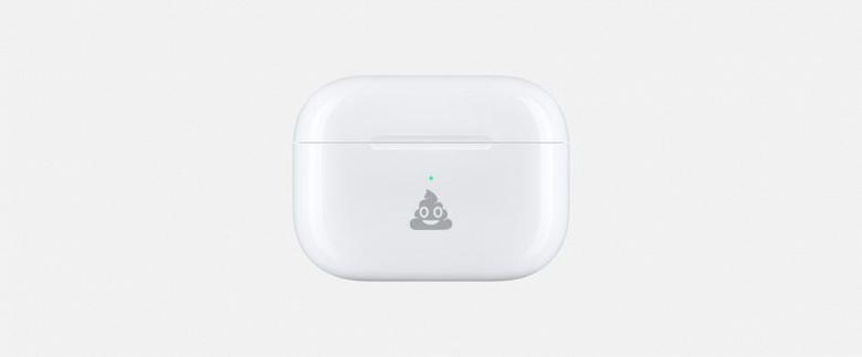 Теперь Apple может нанести на футляр ваших AirPods улыбающуюся какашку