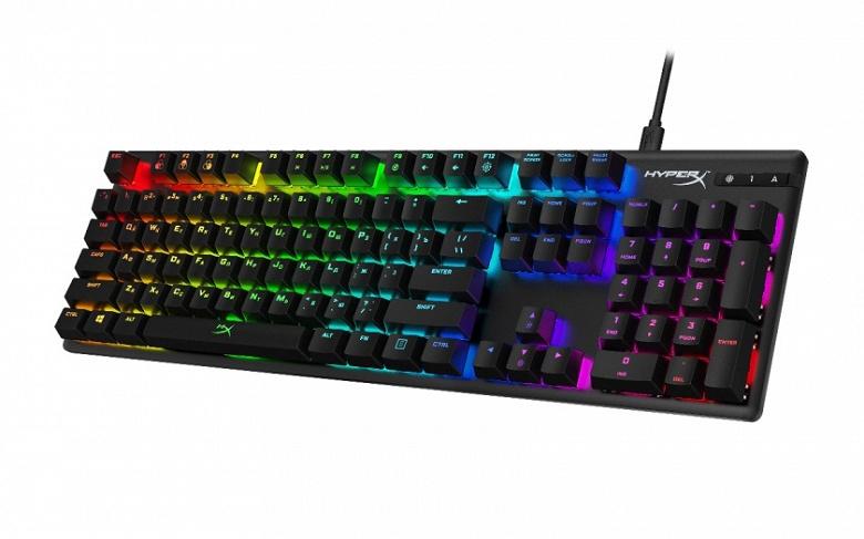 В игровой клавиатуре HyperX Alloy Origins используются механические переключатели HyperX Aqua