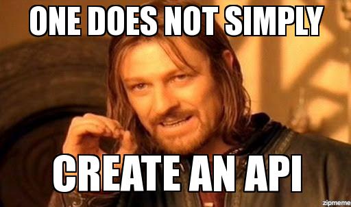 API, который заставляет плакать - 1