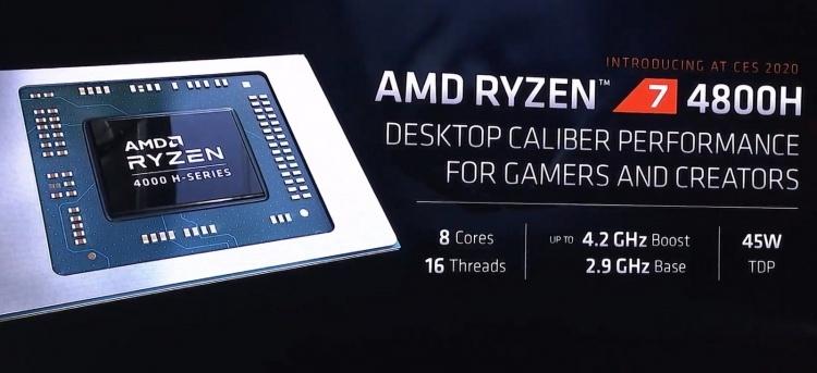 CES 2020: AMD представила мобильные процессоры Ryzen 4000 — быстрее чем Core i7-9700K