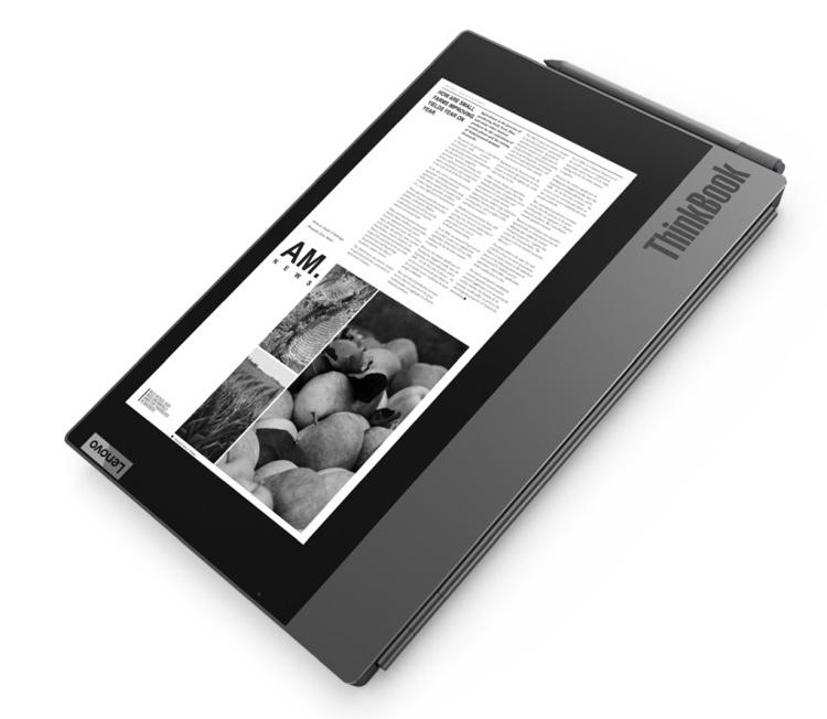 Lenovo встроила ридер с экраном E Ink в ноутбук ThinkBook Plus