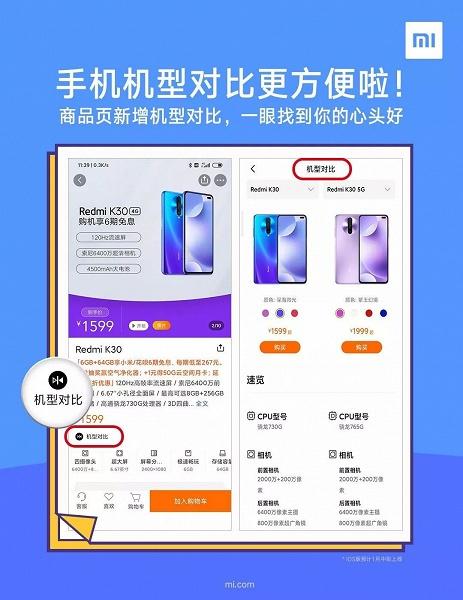 Xiaomi и Redmi начали помогать определиться с выбором смартфона