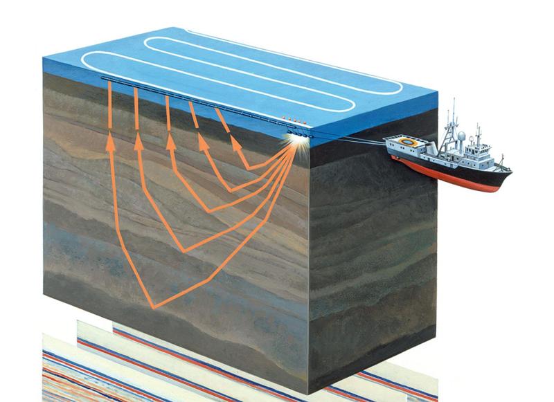 Проведение акваториальной сейсморазведки