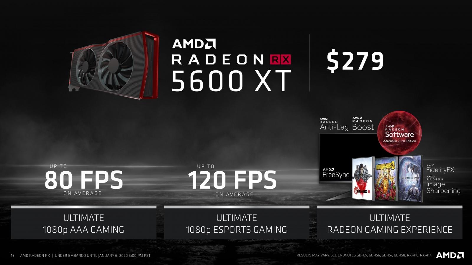 На CES 2020 AMD представила 64-ядерный десктопный Ryzen Threadripper 3990X, видеокарту Radeon RX 5600 и мобильные CPU - 16