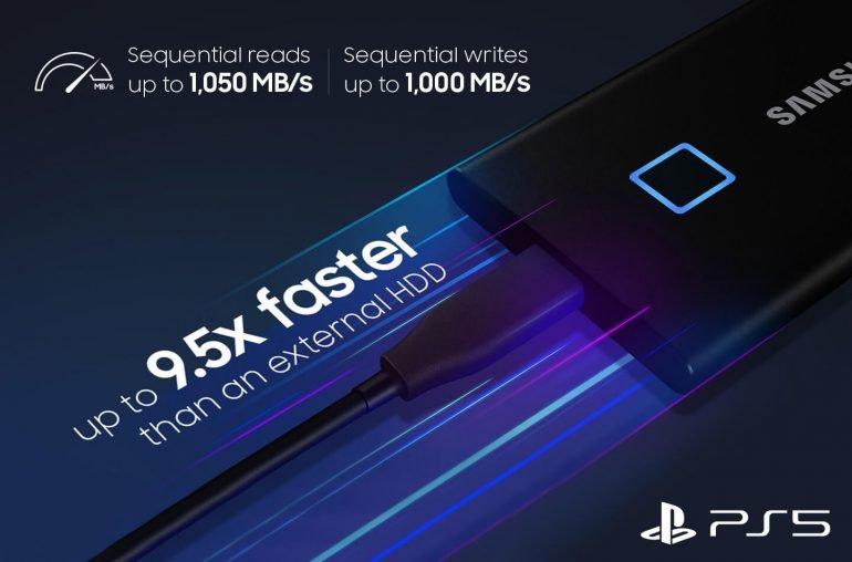 PlayStation 5 поддерживает новейший SSD Samsung со сканером отпечатков пальцев