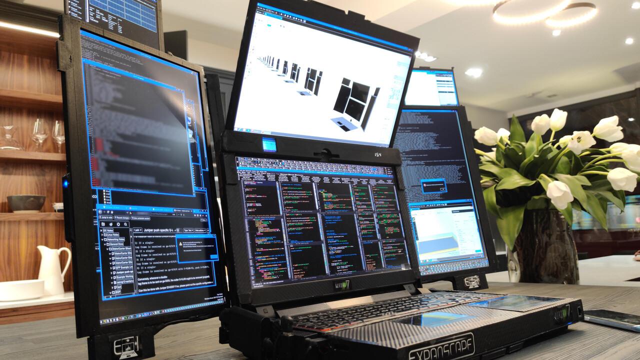 На CES 2020 представлен ноутбук Aurora 7 с семью экранами - 1