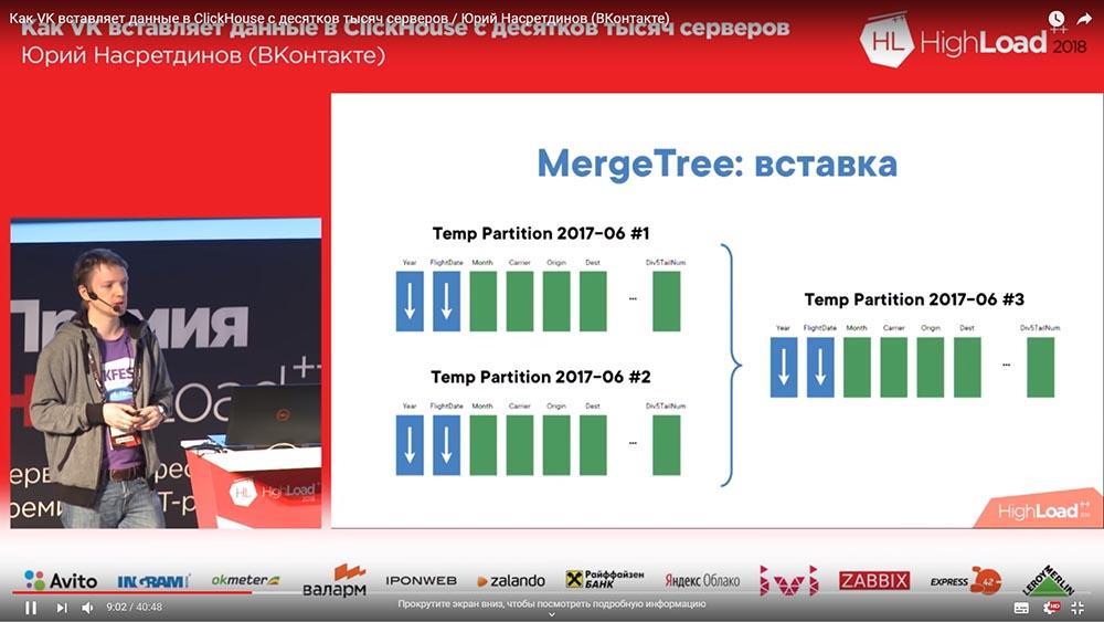 HighLoad++, Юрий Насретдинов (ВКонтакте): как VK вставляет данные в ClickHouse с десятков тысяч серверов - 14