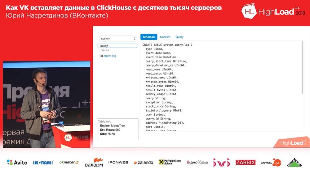 HighLoad++, Юрий Насретдинов (ВКонтакте): как VK вставляет данные в ClickHouse с десятков тысяч серверов - 35