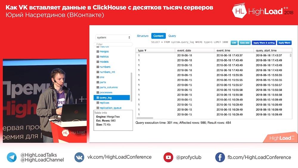HighLoad++, Юрий Насретдинов (ВКонтакте): как VK вставляет данные в ClickHouse с десятков тысяч серверов - 36