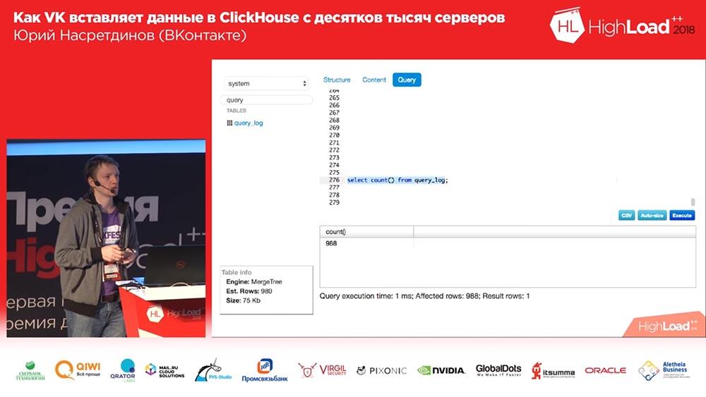 HighLoad++, Юрий Насретдинов (ВКонтакте): как VK вставляет данные в ClickHouse с десятков тысяч серверов - 37
