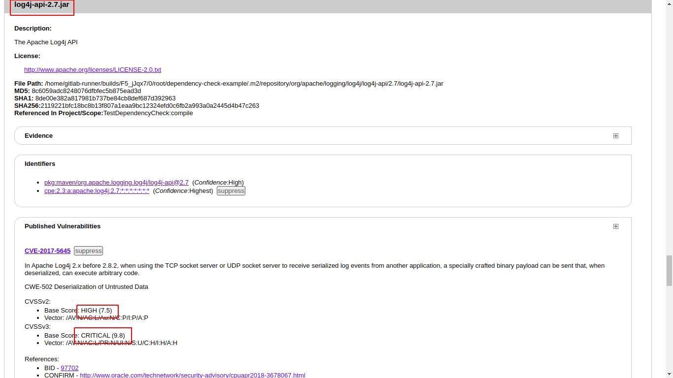 Использование сканера уязвимостей в используемых библиотеках Dependency-Check в GitlabCI - 4
