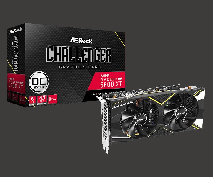 Ассортимент ASRock пополнили видеокарты Radeon RX 5600 XT Phantom Gaming D3 6G OC, Radeon RX 5600 XT Phantom Gaming D2 6G OC и Radeon RX 5600 XT Challenger D 6G OC