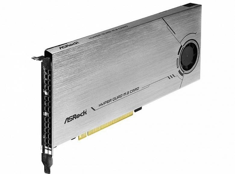 Домик для самых быстрых SSD. ASRock представила плату Hyper Quad M.2