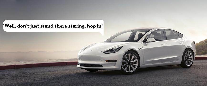 Автомобили Tesla смогут поговорить с пешеходами - 1