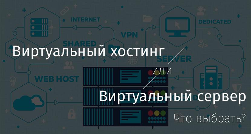 Виртуальный хостинг или виртуальный сервер — что выбрать? - 1