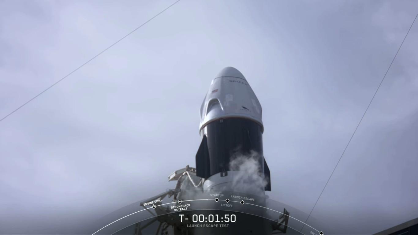 SpaceX успешно провела испытание системы спасения корабля Crew Dragon - 11