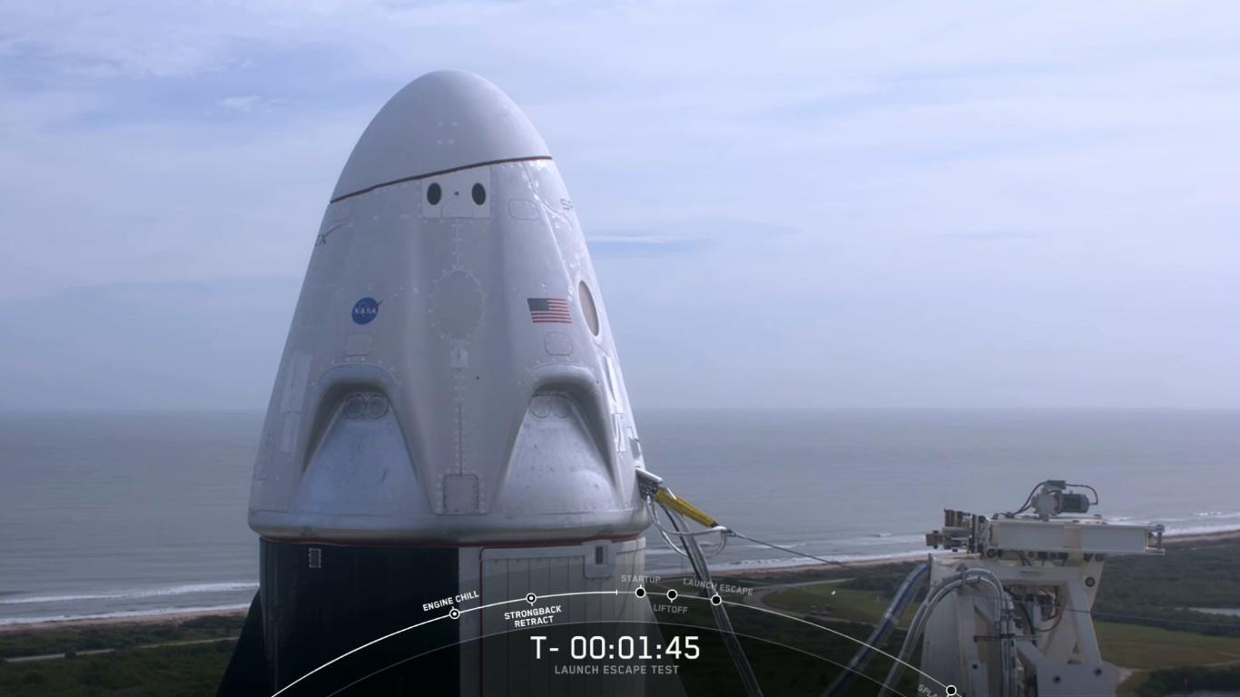 SpaceX успешно провела испытание системы спасения корабля Crew Dragon - 12
