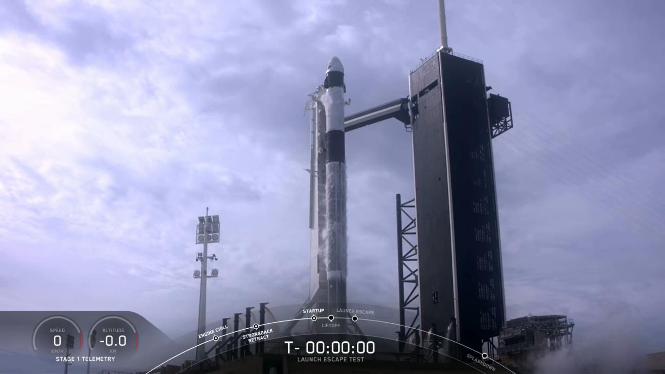 SpaceX успешно провела испытание системы спасения корабля Crew Dragon - 13