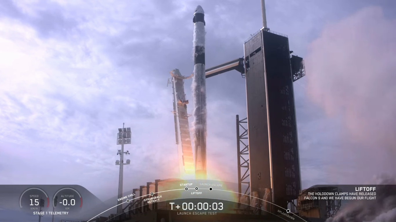 SpaceX успешно провела испытание системы спасения корабля Crew Dragon - 14