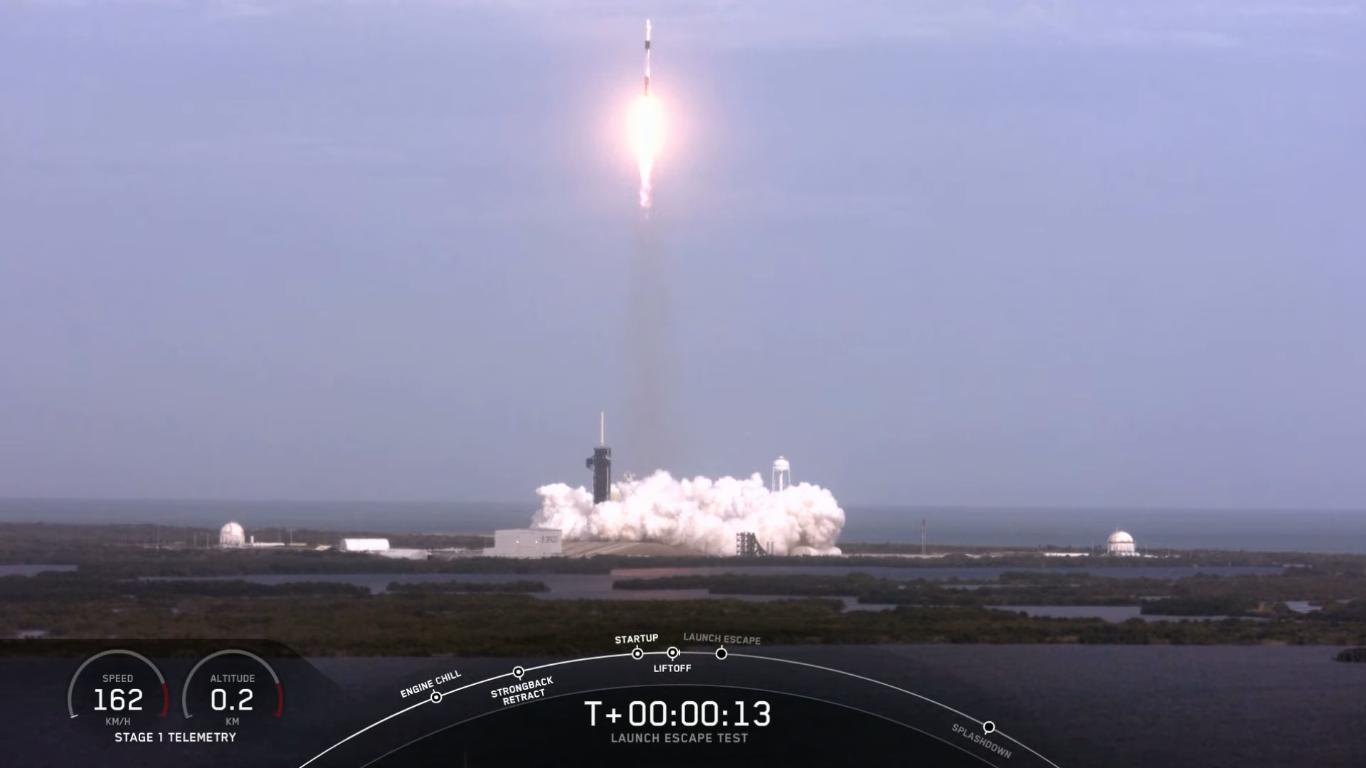 SpaceX успешно провела испытание системы спасения корабля Crew Dragon - 16