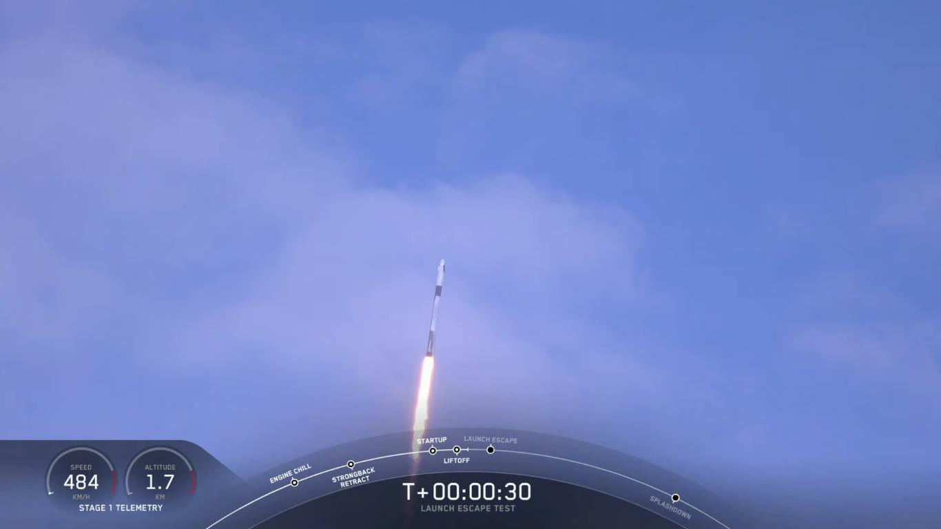 SpaceX успешно провела испытание системы спасения корабля Crew Dragon - 17