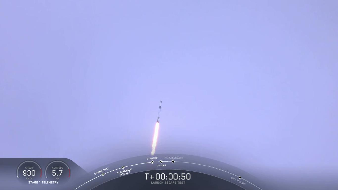 SpaceX успешно провела испытание системы спасения корабля Crew Dragon - 18