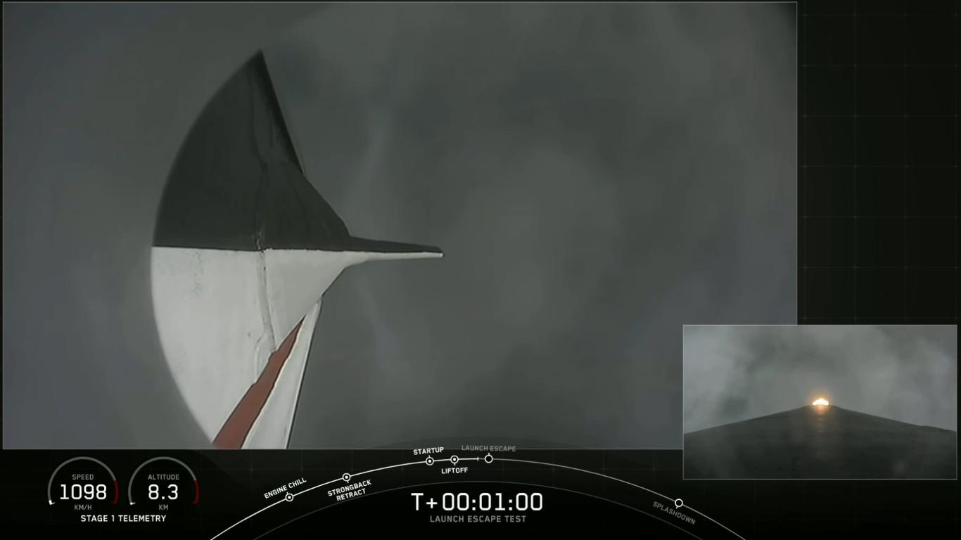 SpaceX успешно провела испытание системы спасения корабля Crew Dragon - 19
