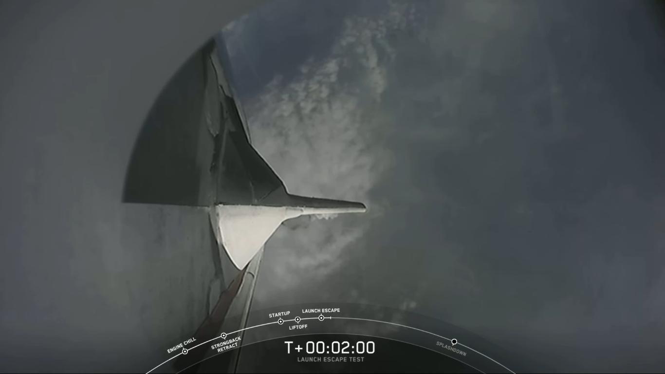 SpaceX успешно провела испытание системы спасения корабля Crew Dragon - 25