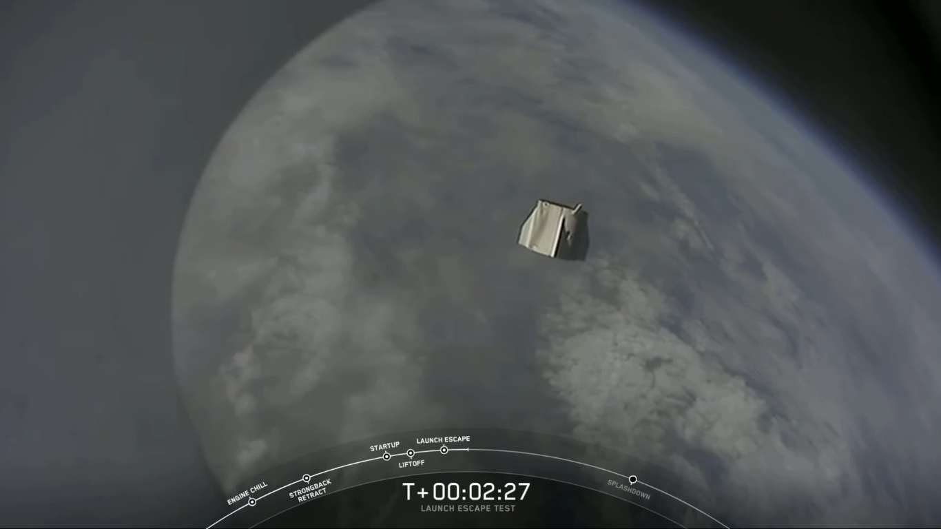 SpaceX успешно провела испытание системы спасения корабля Crew Dragon - 27