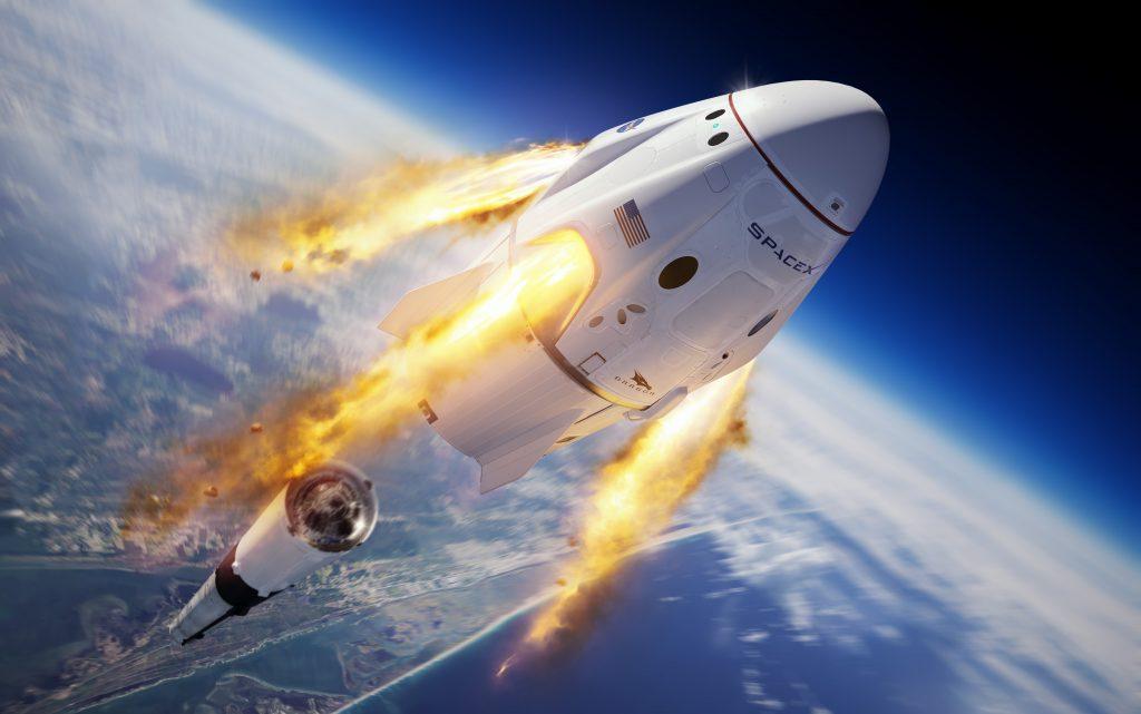SpaceX успешно провела испытание системы спасения корабля Crew Dragon - 3